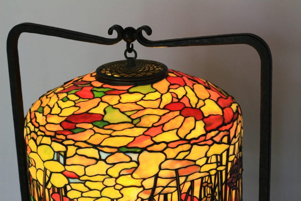 奥稲瀬をイメージしたステンドグラスランプ|オレンジ・イエロー glass N.
